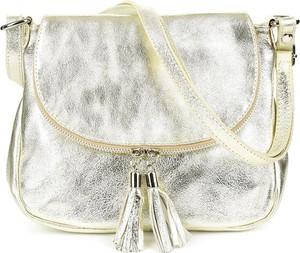 Srebrna torebka producent niezdefiniowany na ramię matowa
