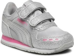 Buty sportowe dziecięce Puma ze skóry dla dziewczynek na rzepy