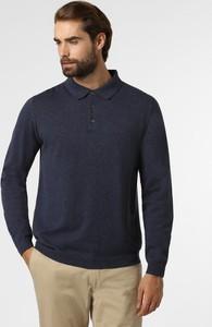 Granatowy sweter Finshley & Harding z bawełny