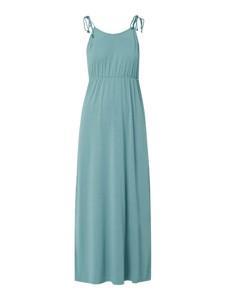 Niebieska sukienka Tom Tailor Denim z okrągłym dekoltem bez rękawów maxi