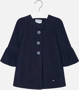 Niebieski płaszcz dziecięcy Mayoral