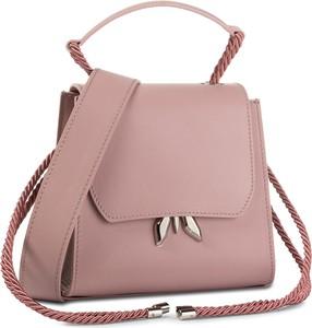 Różowa torebka Patrizia Pepe na ramię