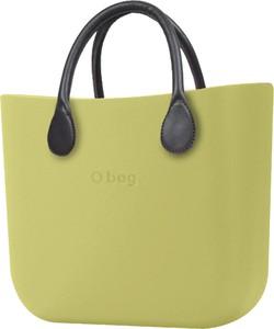Zielona torebka O Bag duża matowa w wakacyjnym stylu