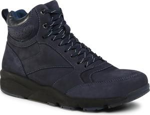 Granatowe buty zimowe Sergio Bardi sznurowane