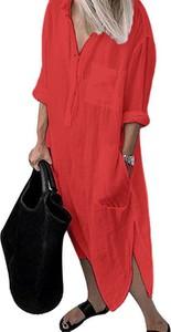 Sukienka Cikelly maxi w stylu casual z długim rękawem