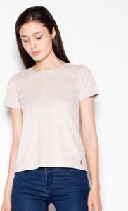 T-shirt Venaton z okrągłym dekoltem