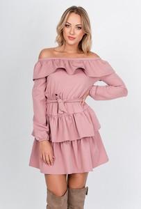 Sukienka ZOiO.pl w stylu casual z dekoltem w łódkę
