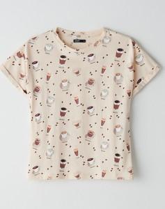 T-shirt Cropp z okrągłym dekoltem w stylu casual z krótkim rękawem