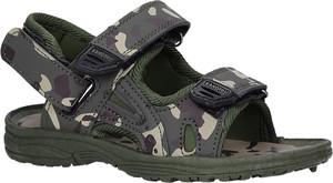 Zielone buty dziecięce letnie Casu na rzepy