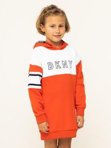 Pomarańczowa sukienka dziewczęca DKNY