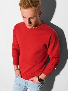 Czerwona bluza Ombre w stylu casual