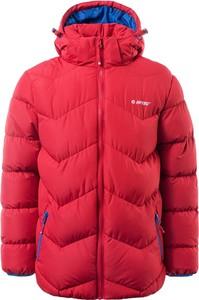 Czerwona kurtka dziecięca Hi-Tec dla dziewczynek