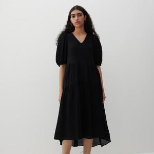 Sukienka Reserved z tkaniny z krótkim rękawem z dekoltem w kształcie litery v