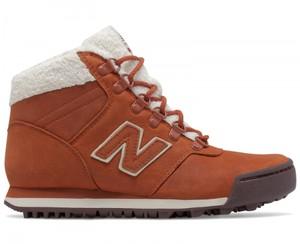 Brązowe buty New Balance ze skóry z płaską podeszwą