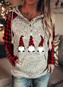 Bluza Sandbella z bawełny w bożonarodzeniowy wzór