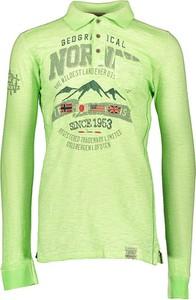 Koszulka polo Geographical Norway z bawełny