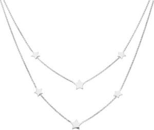 Irbis.style srebrny podwójny naszyjnik gwiazda