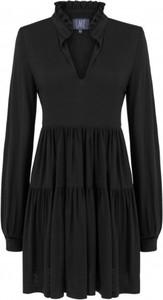 Czarna sukienka Lake z długim rękawem