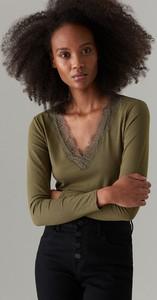 Zielona bluzka Mohito w stylu casual z bawełny
