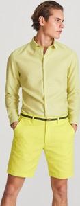 Zielona koszula Reserved z bawełny z długim rękawem