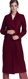Czerwony płaszcz Nife w stylu casual z wełny