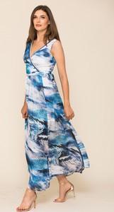 Sukienka VISSAVI z dekoltem w kształcie litery v maxi w stylu casual
