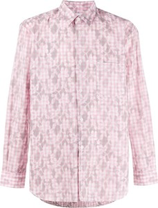 Różowa koszula Comme Des Garçons z długim rękawem