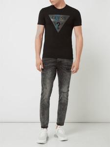 T-shirt Guess z krótkim rękawem z bawełny z nadrukiem