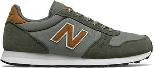 Zielone buty sportowe New Balance z zamszu sznurowane