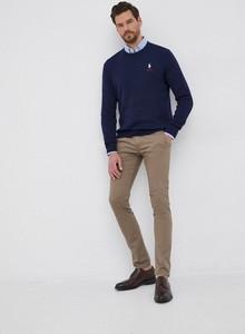 Granatowy sweter POLO RALPH LAUREN w stylu casual