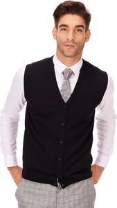 Czarna kamizelka Lanieri Fashion z wełny
