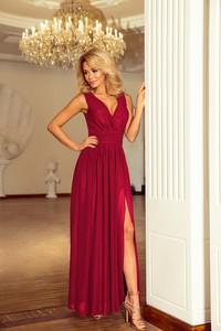b7af54c095 Czerwona sukienka NUMOCO maxi