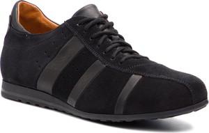 Czarne buty sportowe Gino Rossi z zamszu