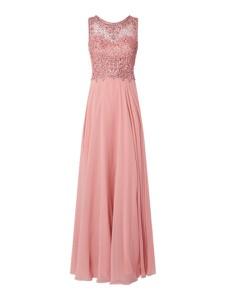 Różowa sukienka Unique maxi bez rękawów