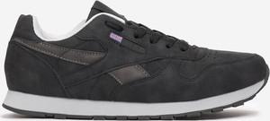 Czarne buty sportowe Multu sznurowane ze skóry w sportowym stylu