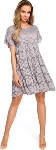 Sukienka MOE z okrągłym dekoltem mini w stylu casual