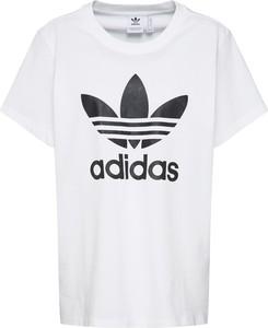 Bluzka Adidas Originals w młodzieżowym stylu z dżerseju z krótkim rękawem