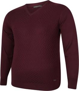 Sweter Bigsize z tkaniny w stylu casual