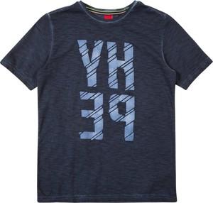Granatowa koszulka dziecięca S.Oliver z dżerseju