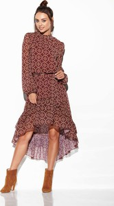 Sukienka Lemoniade z długim rękawem midi w stylu casual