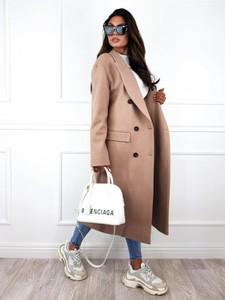 Płaszcz Infinityfashion.pl w stylu casual z wełny