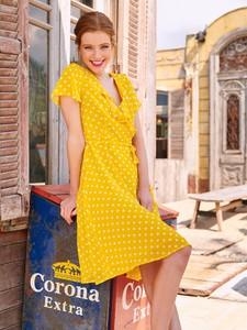 Sukienka Smashed Lemon z tkaniny