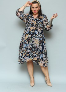 Sukienka KARKO w stylu casual z długim rękawem