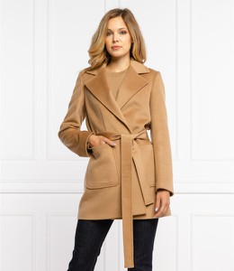Brązowy płaszcz Max & Co. z wełny