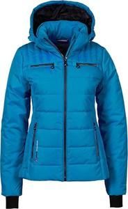Niebieska kurtka Peak Mountain krótka w stylu casual