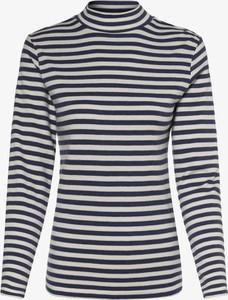 Bluzka Marie Lund z golfem w stylu casual z długim rękawem
