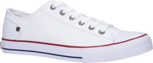 Białe trampki sznurowane Big Star DD174271