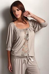Beżowa piżama softcotton