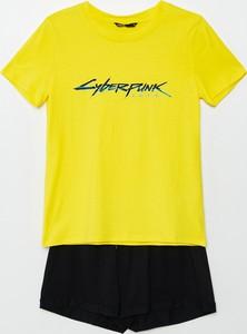Żółta piżama Cropp