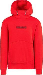 Czerwona bluza Napapijri z dzianiny